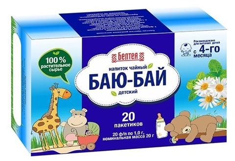 БЕЛТЕЯ   Успокаивающий напиток чайный 20пак Детский баю-бай