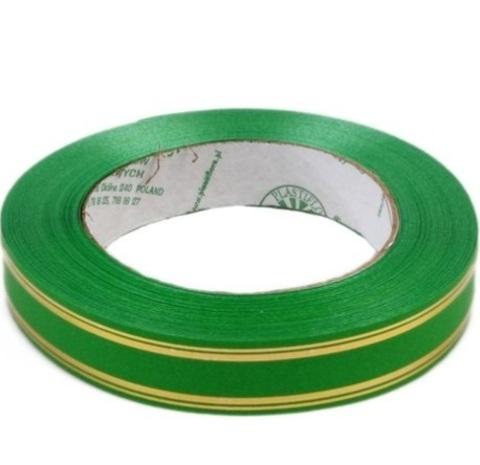 Лента золотая полоса PL (размер: 2 см х 50 ярдов) Цвет: зеленый