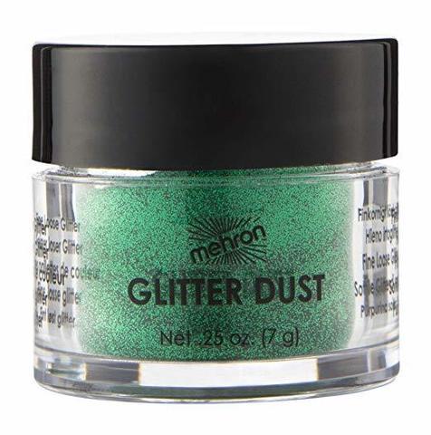 MEHRON Рассыпчатые блестки Glitter Dust, Shamrock Green (Зеленый), 7 г