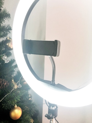 кольцевая лампа 32 см с пультом