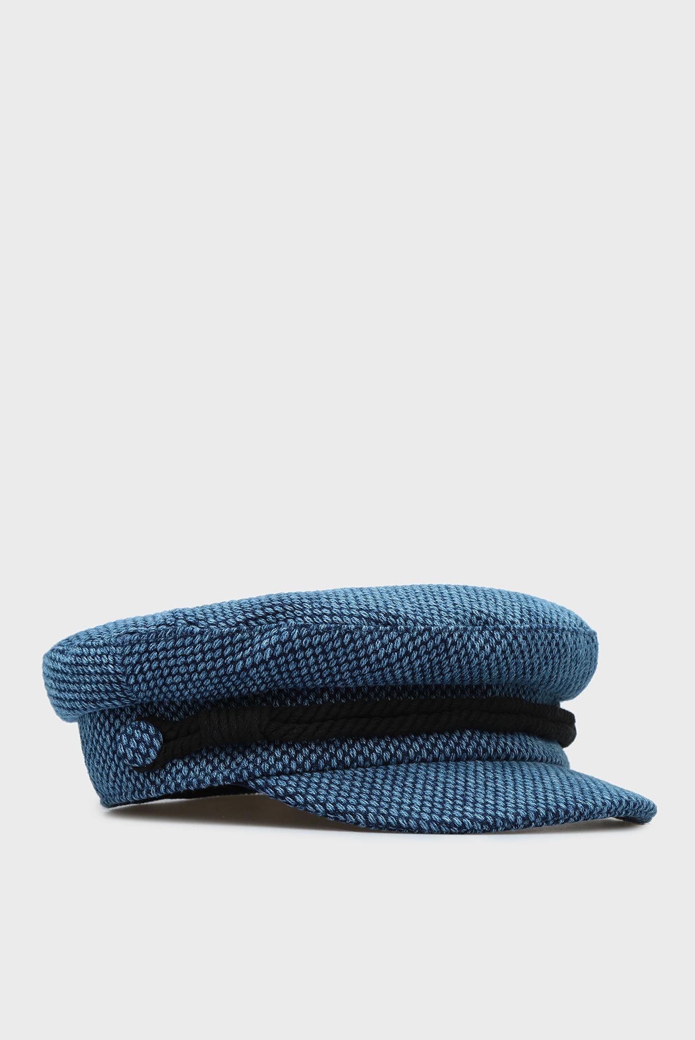 Женское синее кепи BAKER BOY TWEED Tommy Hilfiger