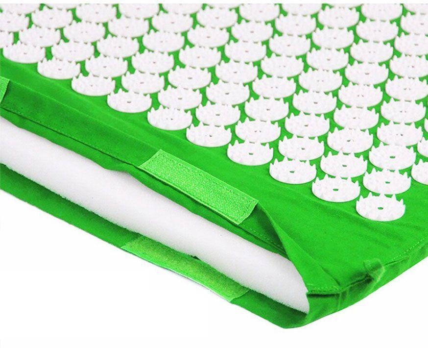 Массажный коврик (аппликатор Кузнецова) + подушка (зелёный) Фото №3