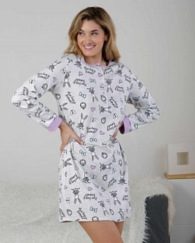 Ночная сорочка женская с длинными рукавами Massana ML_717207