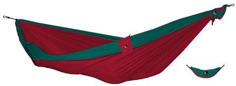 Картинка гамак туристический Ticket to the Moon compact hammock Red - Emerald Green - 1