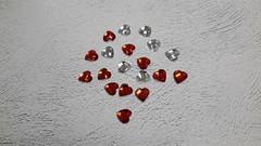 Кабошон Сердце, граненое, 16 мм, 10 шт.