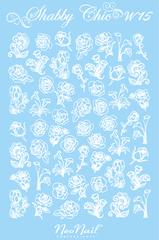Трафарет для дизайна Shabby Chic 15 комбинированный