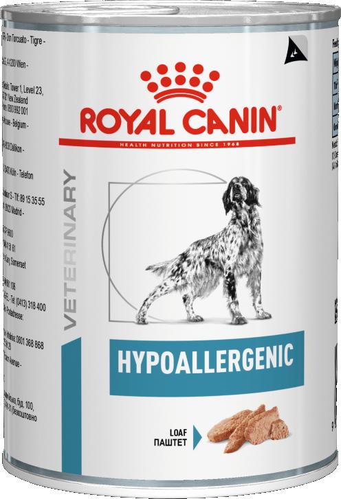 Royal Canin Консервы для собак, Royal Canin Hypoallergenic, пищевой аллергией/непереносимостью 769002.png