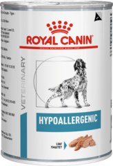 Консервы для собак, Royal Canin Hypoallergenic, пищевой аллергией/непереносимостью