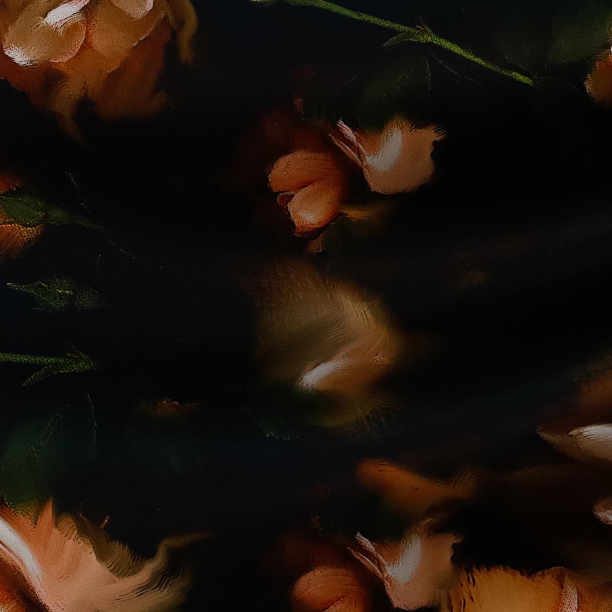 """Шёлковый """"дюшес"""" в цветах во фламандской манере"""