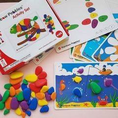 Радужные камешки с карточками, Edx education 13206
