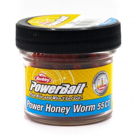 Приманка силиконовая Berkley Honey Worm Red (1089416) Имитация опарыша крупного