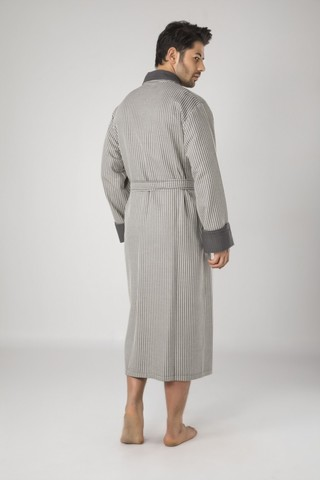 Бамбуковый  мужской вафельный халат 15120-1 хаки  NUSA Турция