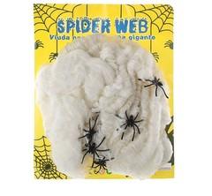 Паутина 60 грамм, 12 пауков