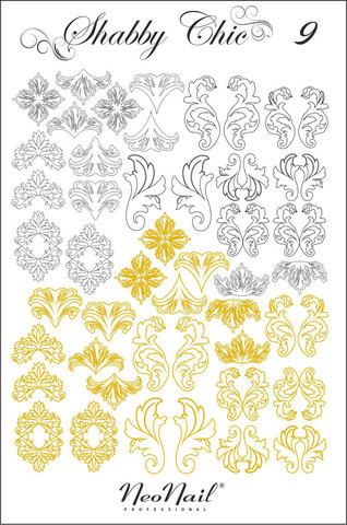 Трафарет для дизайна Shabby Chic 09 комбинированный