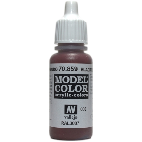Model Color Black Red 17 ml.