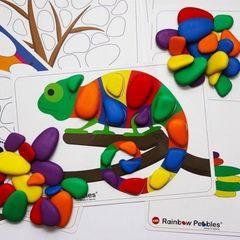 Игровой набор Радужные камешки с карточками, Edx education 13206
