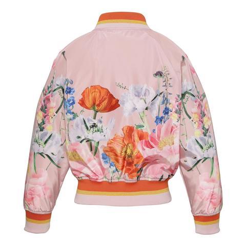 Molo Happy In Bloom Pink куртка - бомбер для девочки
