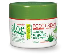 Увлажняющий крем для ног Aloe Treasures 150 мл
