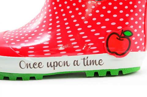 Резиновые сапоги для девочек утепленные Хелло Китти (Hello Kitty), цвет красный. Изображение 8 из 11.