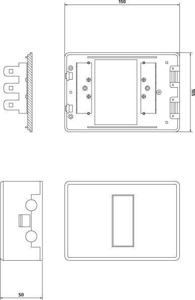 Коробка распределительная на  30 пар,150*105*55 мм RIPO