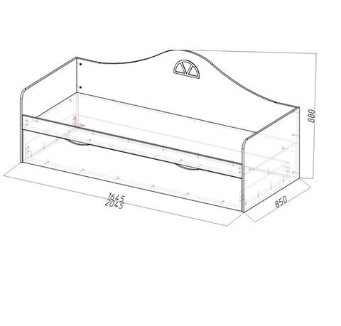 Диван-кровать подростковая с двумя ящиками схема
