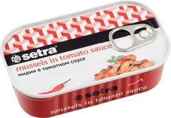 """Мидии """"Setra"""" в томатном соусе ж/б 110г"""