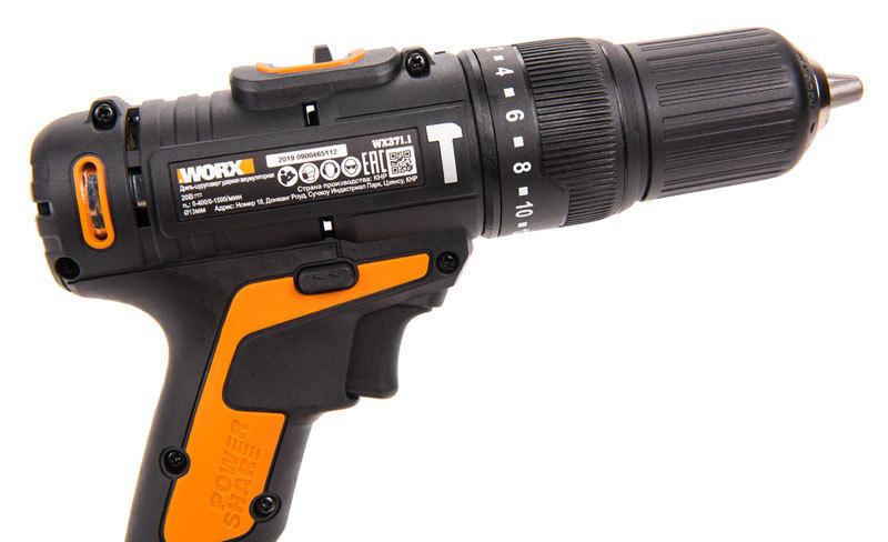 Дрель-шуруповерт ударная аккумуляторная WORX WX371.1, 20В, 40Нм,  2Ач x2, кейс