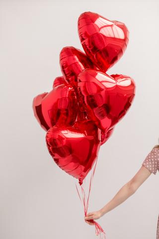 Красные сердца 7шт