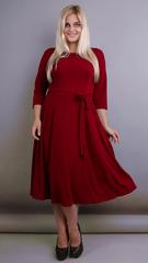 Кора. Вечернее платье плюс сайз. Бордо.
