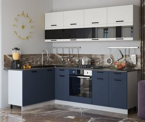 Кухня Угловая Техно NEW 1,6-2,4 м №6
