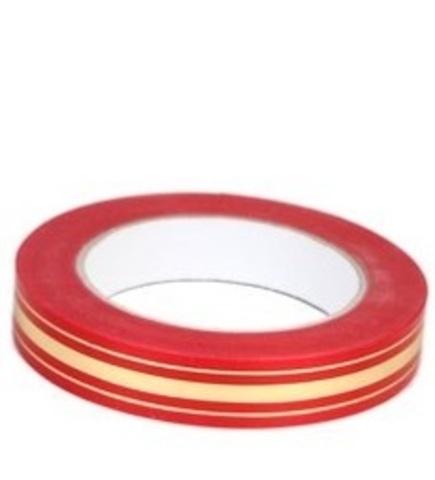 Лента золотая полоса Россия (размер: 2 см х 50 ярдов) Цвет: красный