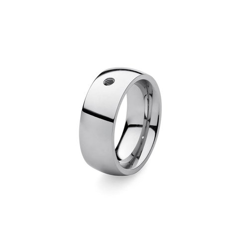 Кольцо - база Basic big silver 18.4 мм 627004 S