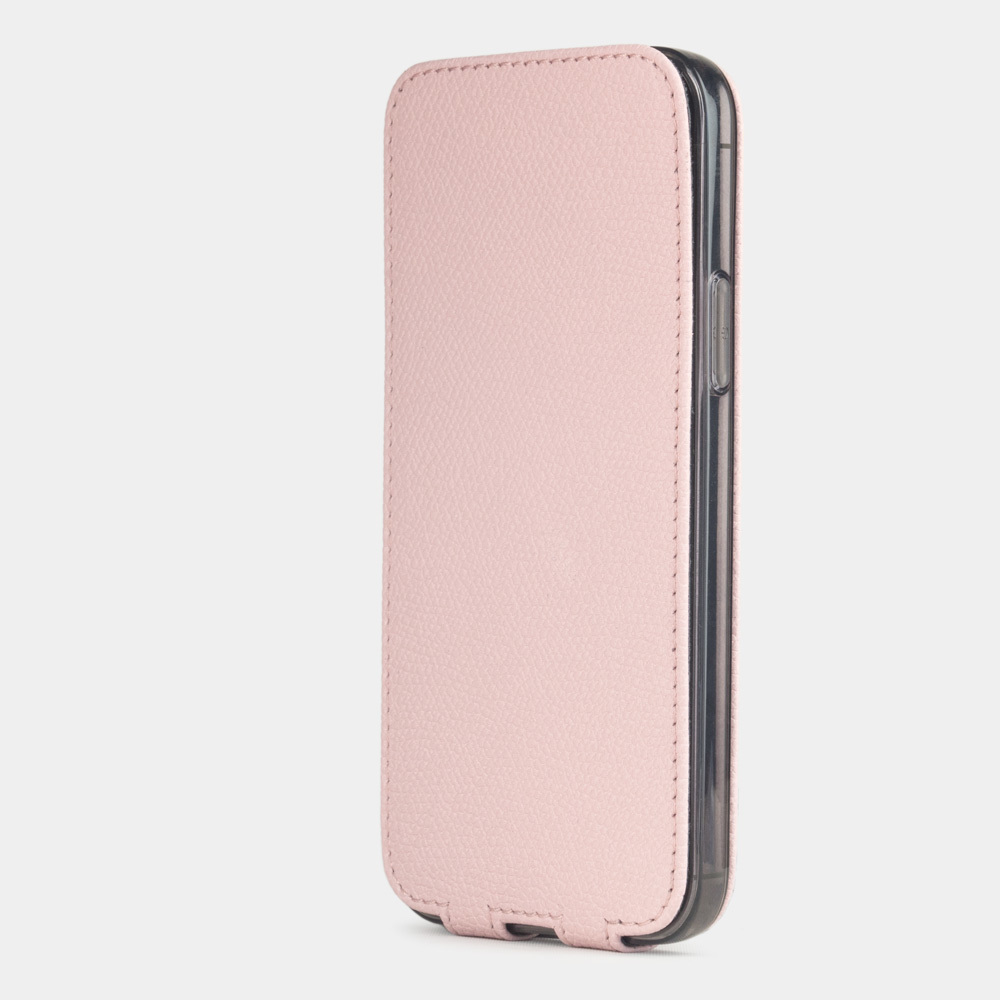 Special order: Чехол для iPhone 12 Pro Max из натуральной кожи теленка, бледно-розового цвета