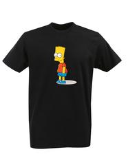 Футболка с принтом мультфильма Симпсоны (The Simpsons) черная 002
