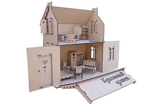 Кукольный домик из фанеры с мебелью