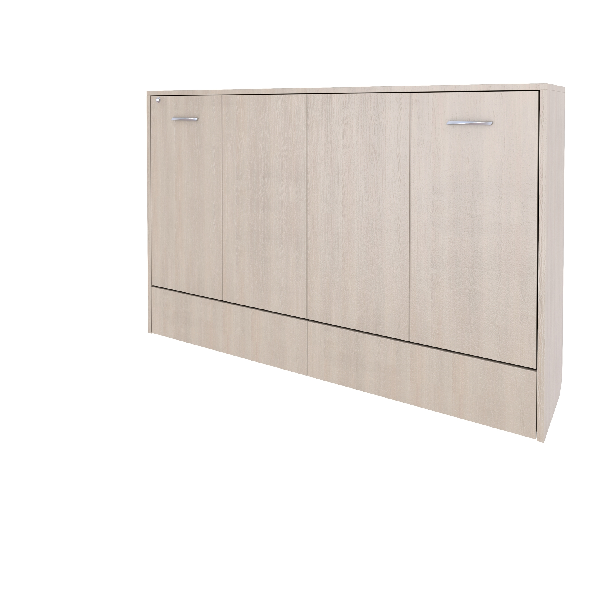 Шкаф-кровать горизонтальная односпальная 90 см