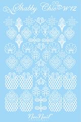 Трафарет для дизайна Shabby Chic 12 белый