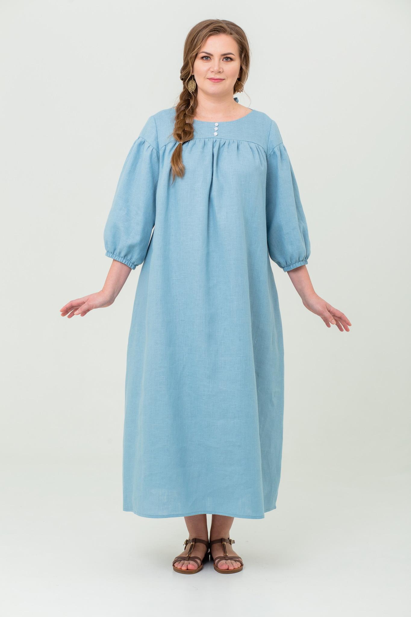 Платье льняное Босиком по росе в русском стиле