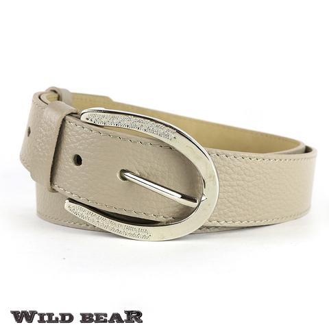 Ремень WILD BEAR RM-029f Beige Premium