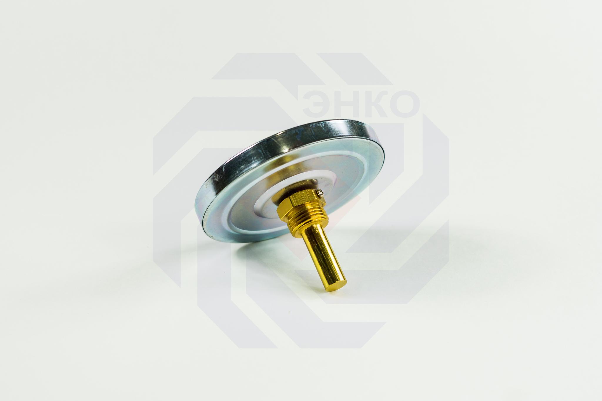 Термометр биметаллический аксиальный ЮМАС ТБП100/50/Т 0-160 °С 100 мм ½