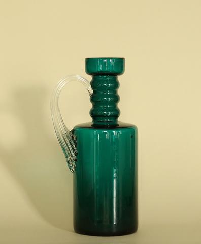 Винтажная ваза стеклянная