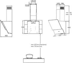 Вытяжка Korting KHC 65070 GW схема