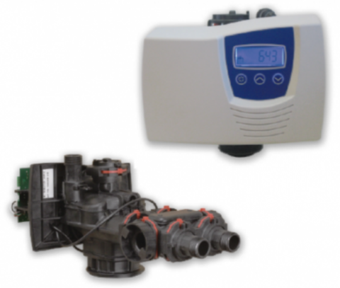 Fleck 7700/1600Std. Eco - Блок управления на умягчение с водосчетчиком