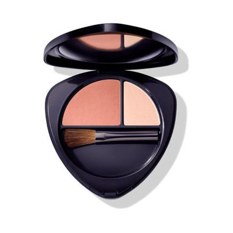 Румяна для лица двойные 01 нежный абрикос (Blush Duo 01 soft apricot) Dr. Hauschka