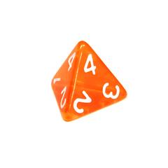 Куб D4 прозрачный: Оранжевый