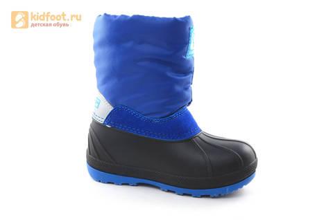 Зимние сапоги для мальчиков непромокаемые с резиновой галошей Фиксики, цвет синий, Water Resistant. Изображение 2 из 17.