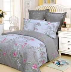Сатиновое постельное бельё 1,5 спальное Сайлид В-31