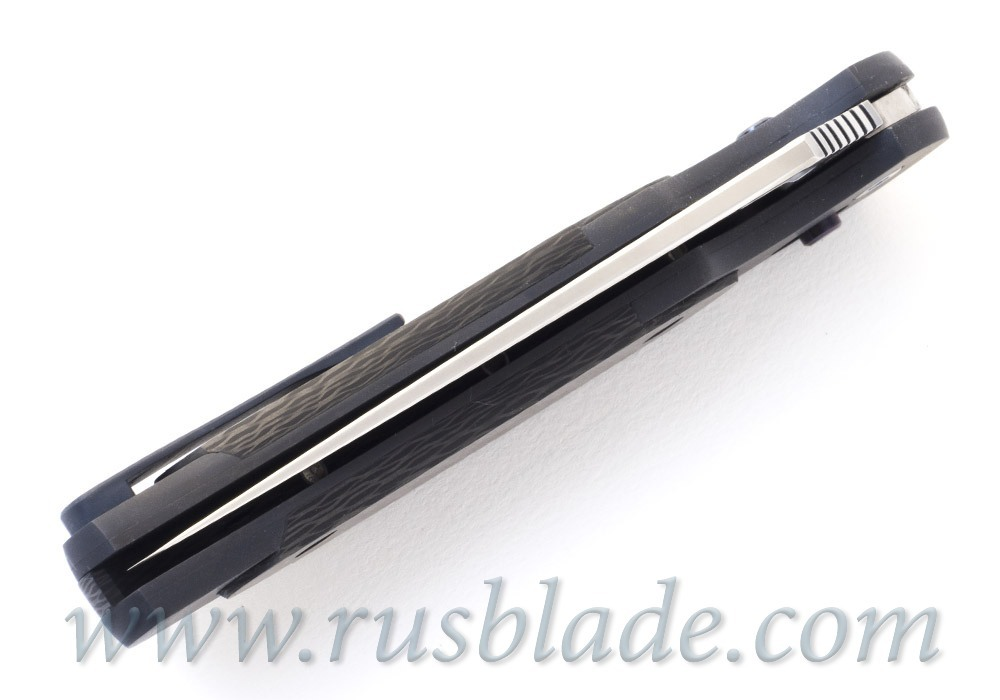 Cheburkov Axis Raven Damascus Titanium CF Folding Knife - фотография