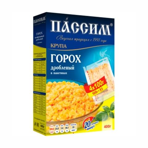 Горох дробленый ПАССИМ 400 гр пак РОССИЯ
