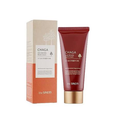 The Saem Chaga Anti-Wrinkle Neck Cream антивозрастной крем для шеи экстрактом гриба